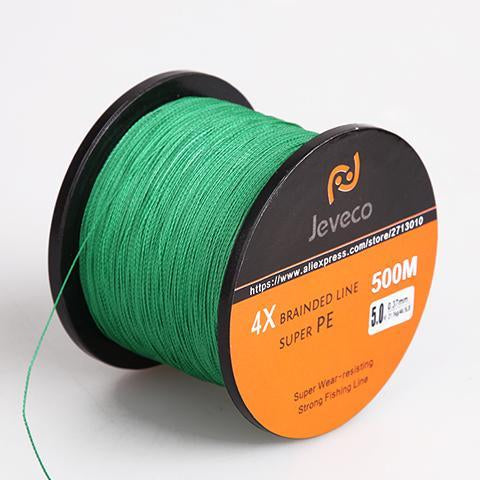 Jeveco 500M Super Pe Braided Multifilament Fishing Line 8Lb 10Lb 20Lb 30Lb-Jeveco Fishing Tackle Store-Green-0.4-Bargain Bait Box