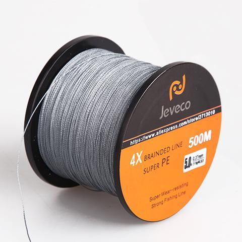 Jeveco 500M Super Pe Braided Multifilament Fishing Line 8Lb 10Lb 20Lb 30Lb-Jeveco Fishing Tackle Store-Grey-0.4-Bargain Bait Box