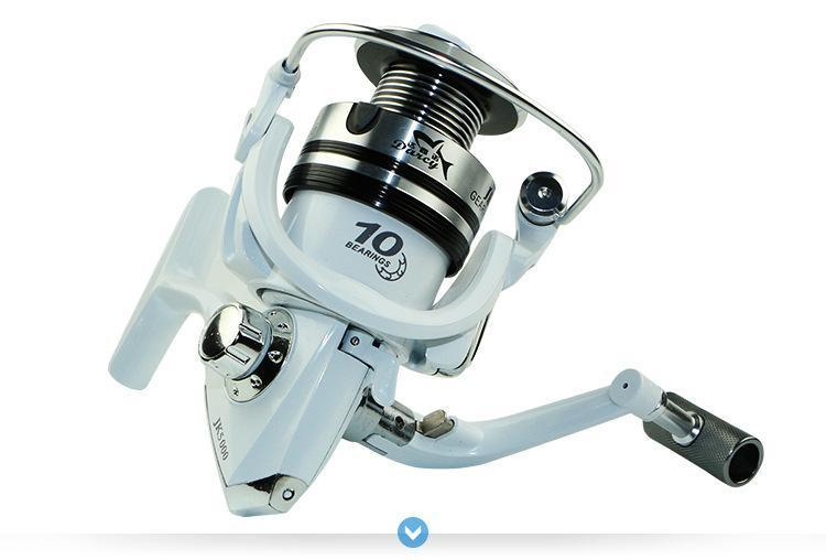 Jk1000-7000 10Bb Left Right Hand Wheel Metal Wrie Cup Saltwater Spinning Fishing-Spinning Reels-Rosemary shop-1000 Series-Bargain Bait Box