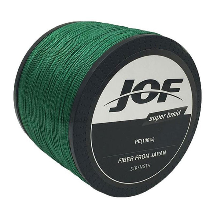 Jof 1000M 20Lb - 100Lb Pe Multifilament 4 Strands Braid Line Ocean-Thanksgiving Family-JOF4P1000white-0.6-Bargain Bait Box