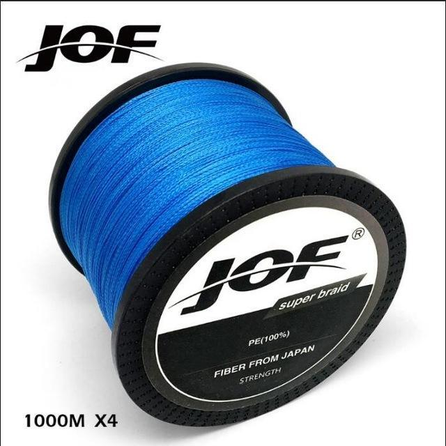 Jof 1000M Multifilament Fishing Line 100% Pe Braided 4 Threads Fly Fishing-liang1 Store-Blue-0.4-Bargain Bait Box
