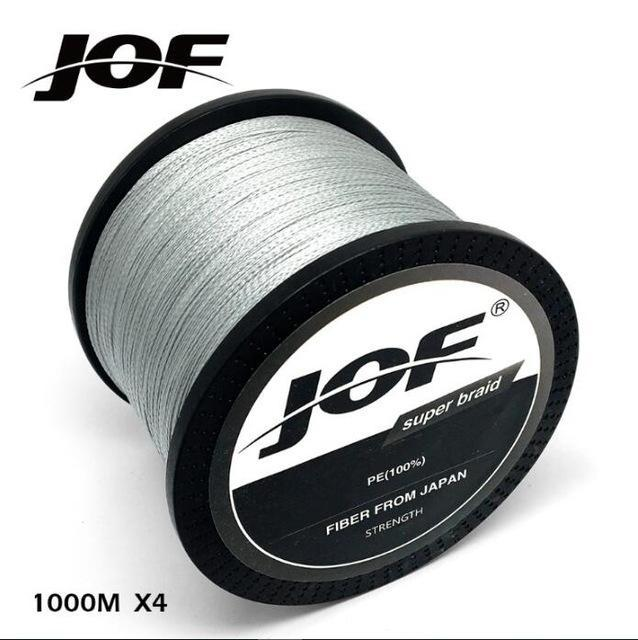 Jof 1000M Multifilament Fishing Line 100% Pe Braided 4 Threads Fly Fishing-liang1 Store-Grey-0.4-Bargain Bait Box