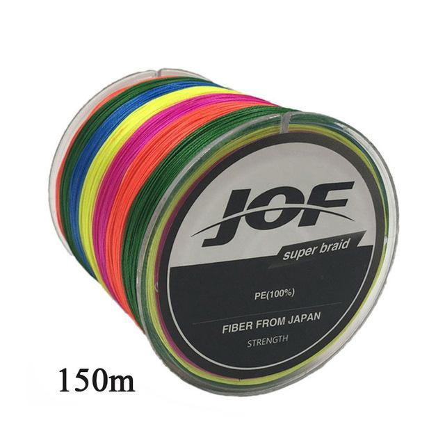 Jof 150M Fishing Line 4 Strands Colorful Pe Big Horsepower Fishing Line 8 Weaves-Enrich Your Outdoor Life Store-Green-1.0-Bargain Bait Box