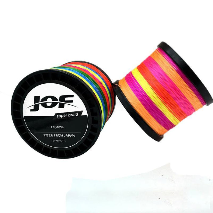 Jof 150M Fishing Line 4 Strands Colorful Pe Big Horsepower Fishing Line 8 Weaves-Enrich Your Outdoor Life Store-Red-1.0-Bargain Bait Box