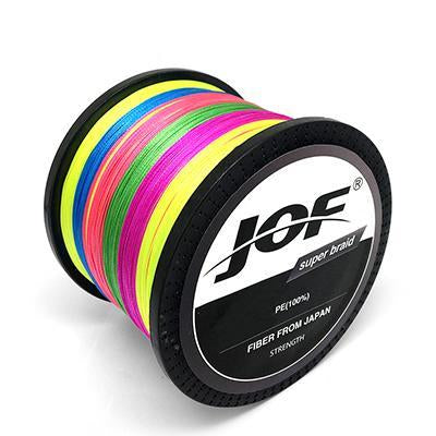Jof 300M 500M 1000M 8 Strands 4 Strands 10 80Lb Pe Braided Fishing Wire-Braided Lines-HUDA Sky Outdoor Equipment Store-Muticolor-4 Strands 300M 18LB-Bargain Bait Box