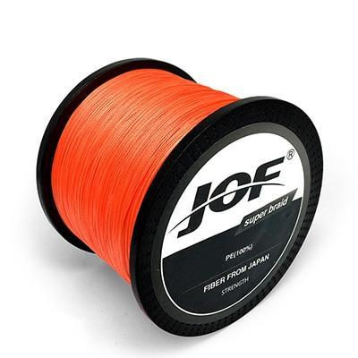 Jof 300M 500M 1000M 8 Strands 4 Strands 10 80Lb Pe Braided Fishing Wire-Braided Lines-HUDA Sky Outdoor Equipment Store-Orange-4 Strands 300M 18LB-Bargain Bait Box