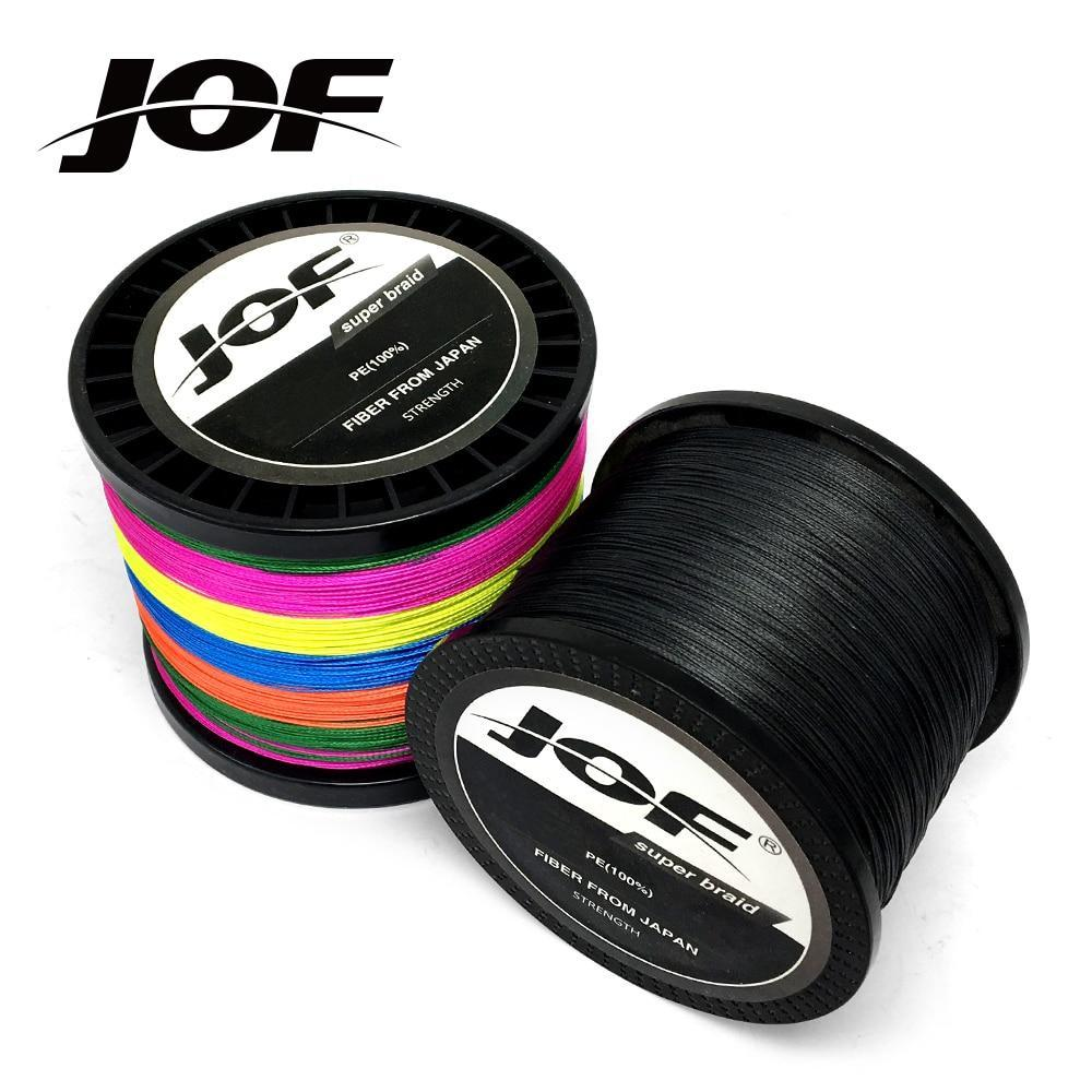 Jof 300M 500M 1000M 8 Strands 4 Strands 10 80Lb Pe Braided Fishing Wire-Braided Lines-HUDA Sky Outdoor Equipment Store-Yellow-4 Strands 300M 18LB-Bargain Bait Box
