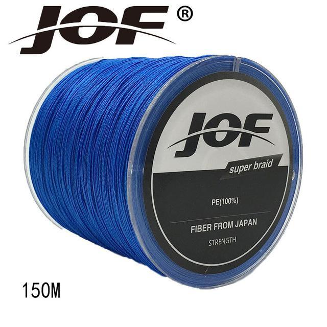 Jof 4 Strands 150M Pe Braided Fishing Line Multifilament Fishing Line Wire-YPYC Sporting Store-Blue-0.3-Bargain Bait Box