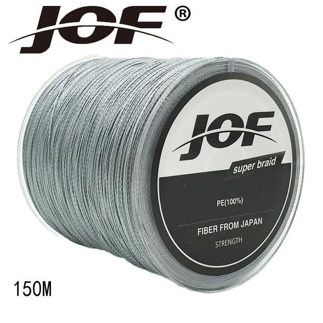Jof 4 Strands 150M Pe Braided Fishing Line Multifilament Fishing Line Wire-YPYC Sporting Store-Grey-0.3-Bargain Bait Box