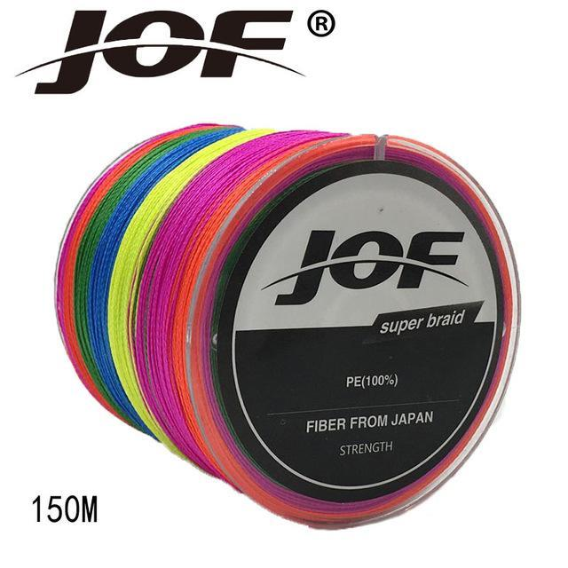 Jof 4 Strands 150M Pe Braided Fishing Line Multifilament Fishing Line Wire-YPYC Sporting Store-Multi With Green-0.3-Bargain Bait Box