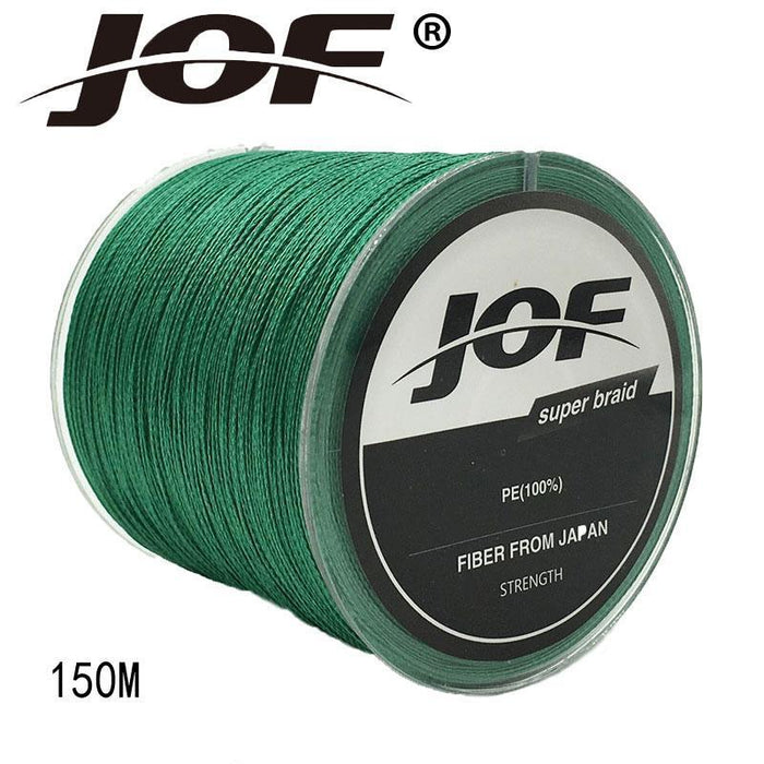 Jof 4 Strands 150M Pe Braided Fishing Line Multifilament Fishing Line Wire-YPYC Sporting Store-Multi With Red-0.3-Bargain Bait Box