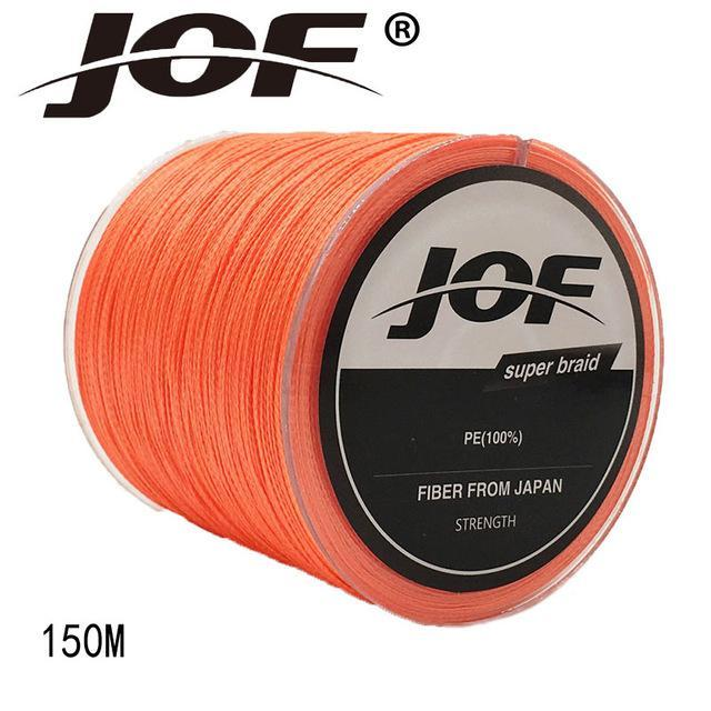 Jof 4 Strands 150M Pe Braided Fishing Line Multifilament Fishing Line Wire-YPYC Sporting Store-Orange-0.3-Bargain Bait Box
