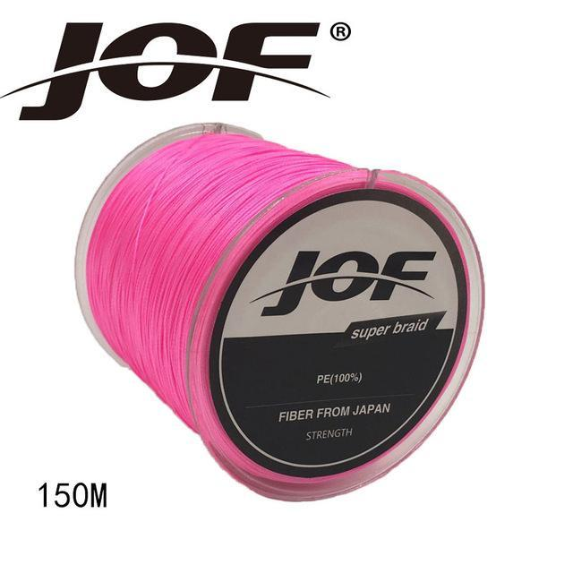 Jof 4 Strands 150M Pe Braided Fishing Line Multifilament Fishing Line Wire-YPYC Sporting Store-Pink-0.3-Bargain Bait Box