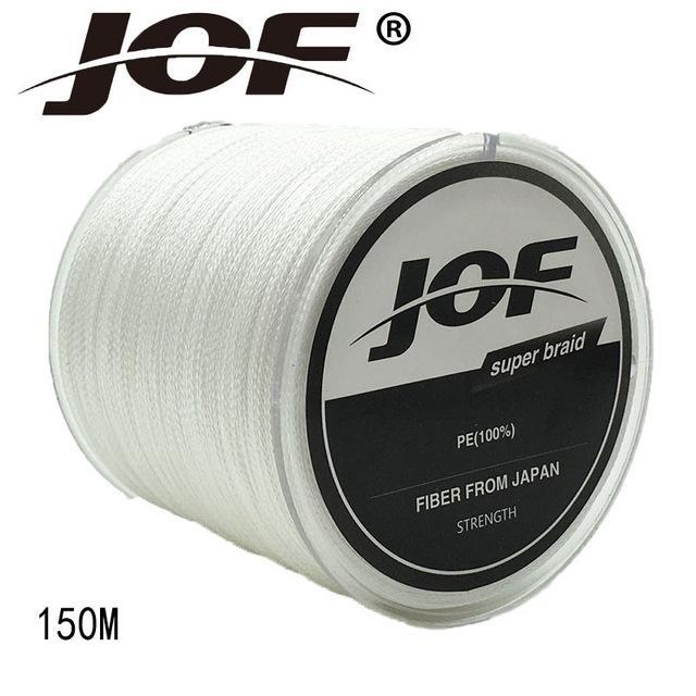 Jof 4 Strands 150M Pe Braided Fishing Line Multifilament Fishing Line Wire-YPYC Sporting Store-White-0.3-Bargain Bait Box