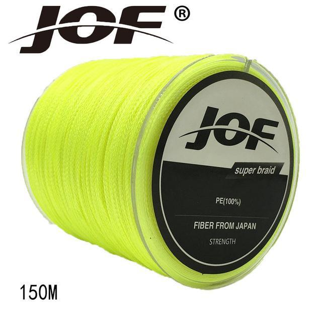 Jof 4 Strands 150M Pe Braided Fishing Line Multifilament Fishing Line Wire-YPYC Sporting Store-Yellow-0.3-Bargain Bait Box