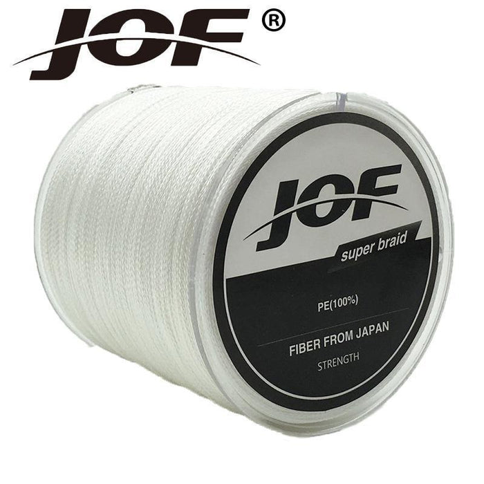 Jof 8 Strands Weaves 500M Extrem Strong Japan Multifilament Pe 8 Braided-Thanksgiving Fishing Line-JOF8P500white-0.6-Bargain Bait Box