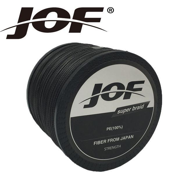 Jof Brand Braided Fishing Line 1000M Smooth Multifilament Pe 8Strands Braided-duo dian Store-Black-0.6-Bargain Bait Box