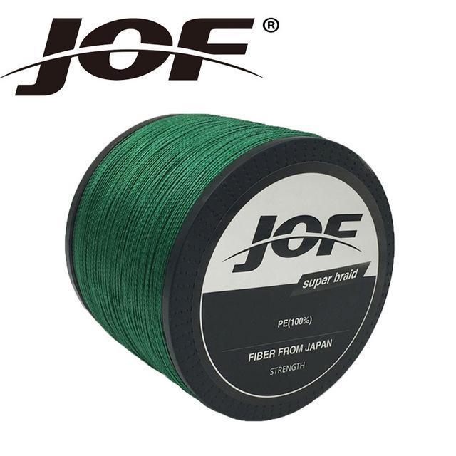 Jof Brand Braided Fishing Line 1000M Smooth Multifilament Pe 8Strands Braided-duo dian Store-Green-0.6-Bargain Bait Box