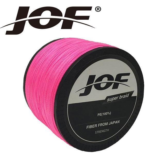 Jof Brand Braided Fishing Line 1000M Smooth Multifilament Pe 8Strands Braided-duo dian Store-Pink-0.6-Bargain Bait Box