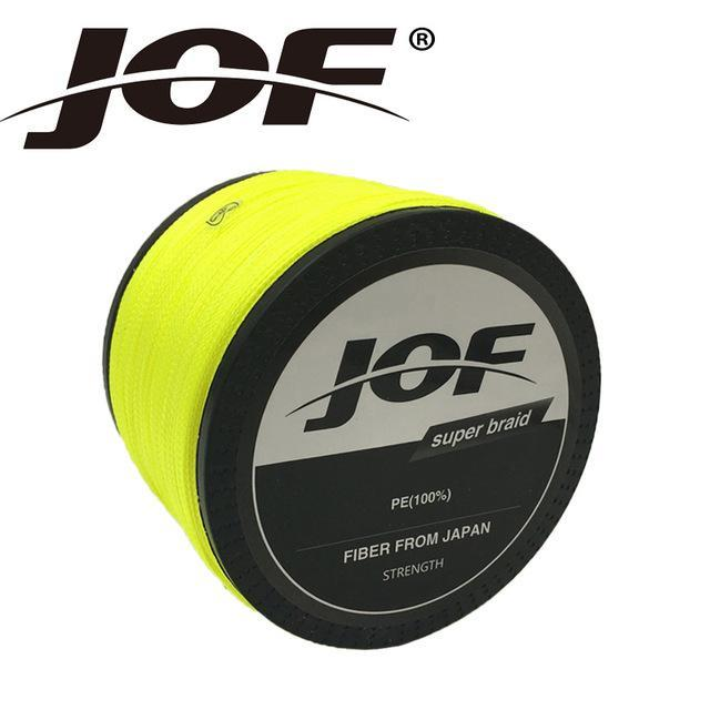 Jof Brand Braided Fishing Line 1000M Smooth Multifilament Pe 8Strands Braided-duo dian Store-Yellow-0.6-Bargain Bait Box