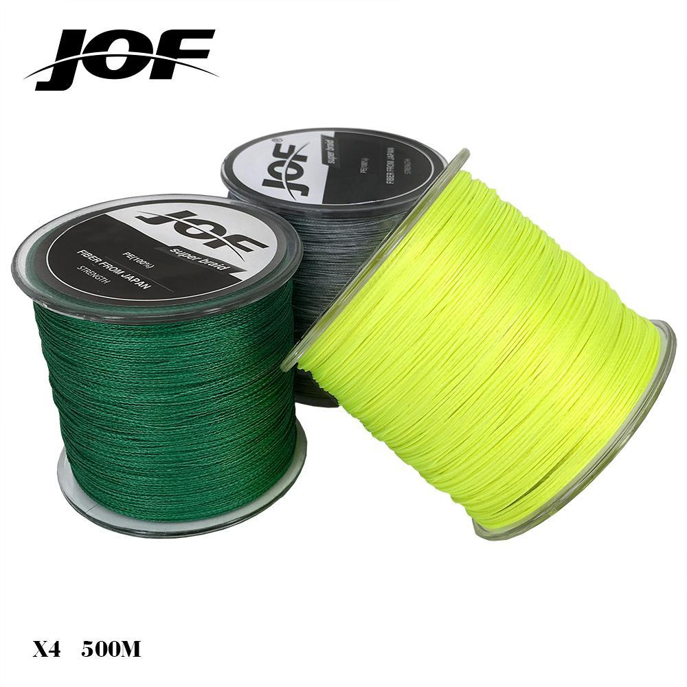 Jof Brand Braided Fishing Line 500M Smooth Multifilament Pe 4 Strands 20-80Lb-HUDA Sky Outdoor Equipment Store-Yellow-1.0-Bargain Bait Box