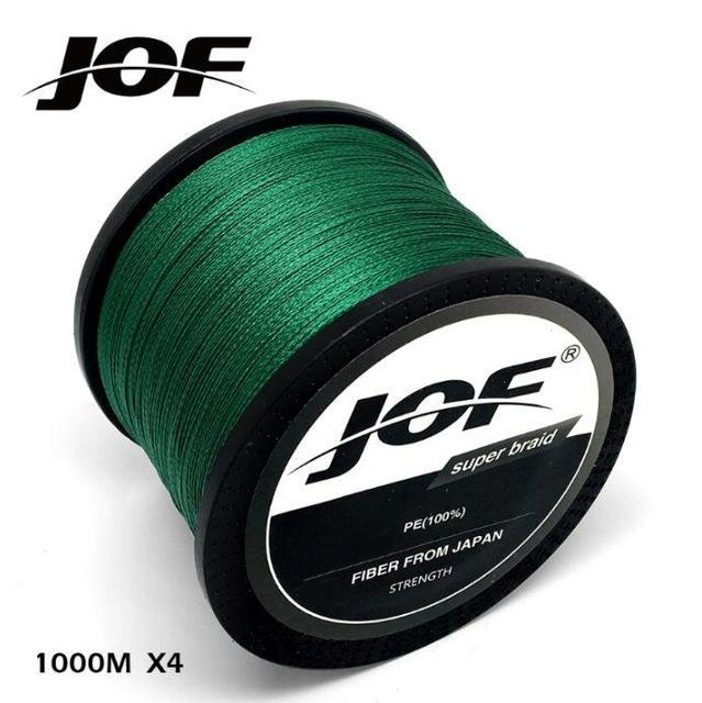 Jof Brand Fishing Line 1000M Pe Multifilament Braided Fish Line 4 Strands-liang1 Store-Green-0.4-Bargain Bait Box
