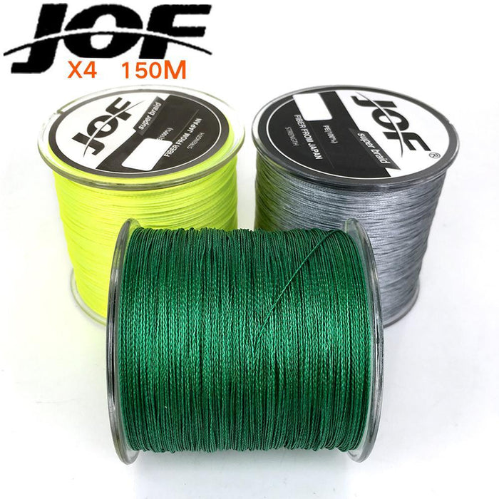 Jof Fishing Line For Fishing Rope Spearfishing Multifilament Braided X4 Peche-HUDA Sky Outdoor Equipment Store-Yellow-1.0-Bargain Bait Box