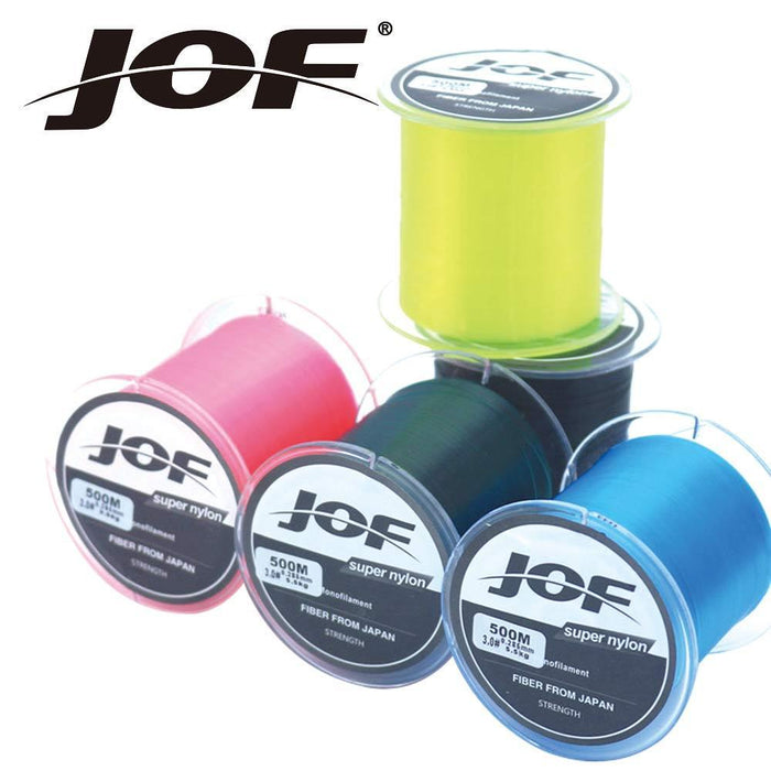 Jof Nylon 500M Fishing Line With 6 Colors Monofilament Japan Material Super-There is always a suitable for you-White-0.4-Bargain Bait Box