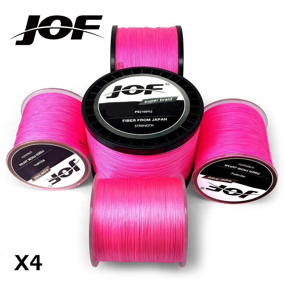 Jof Pe Braided Fishing Line Pink Multifilament Fishing Cord Strong 4 Strands-liang1 Store-300M-0.4-Bargain Bait Box