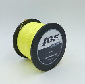 Jof Peche 8Strands 300M Super Strong 8Plys Japan Multifilament Pe 8 Braided-Thanksgiving Family-JOF8P300Yellow-1.0-Bargain Bait Box