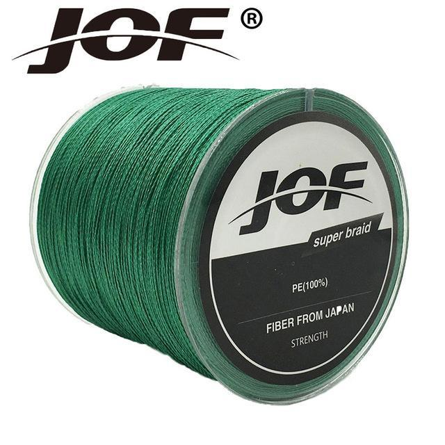 Jof Series 150M 4Strands Multifilament Fishing Line Super Strong Pe 4 Colors-duo dian Store-Green-0.3-Bargain Bait Box