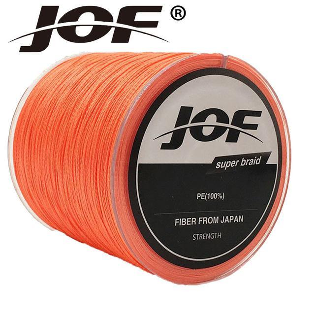 Jof Series 150M 4Strands Multifilament Fishing Line Super Strong Pe 4 Colors-duo dian Store-Orange-0.3-Bargain Bait Box