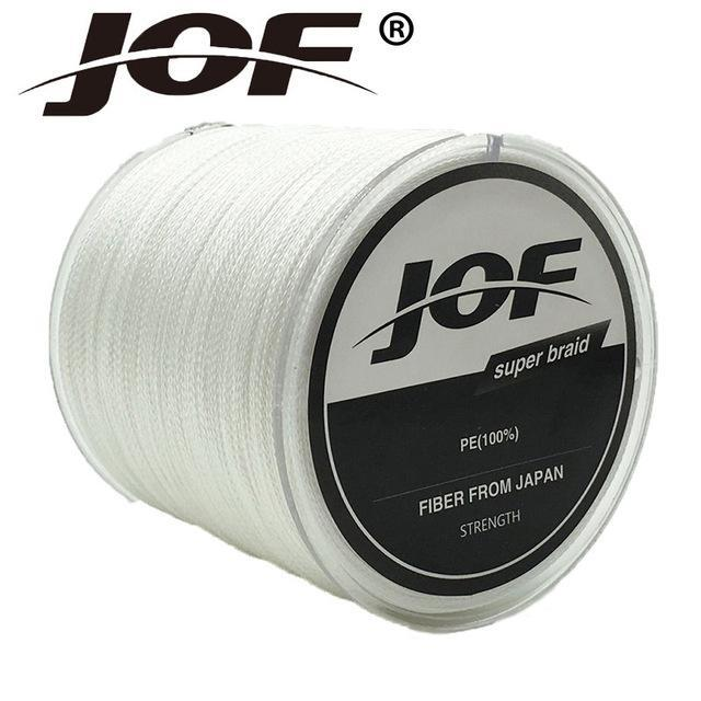Jof Series 150M 4Strands Multifilament Fishing Line Super Strong Pe 4 Colors-duo dian Store-White-0.3-Bargain Bait Box