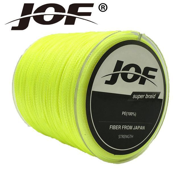 Jof Series 150M 4Strands Multifilament Fishing Line Super Strong Pe 4 Colors-duo dian Store-Yellow-0.3-Bargain Bait Box