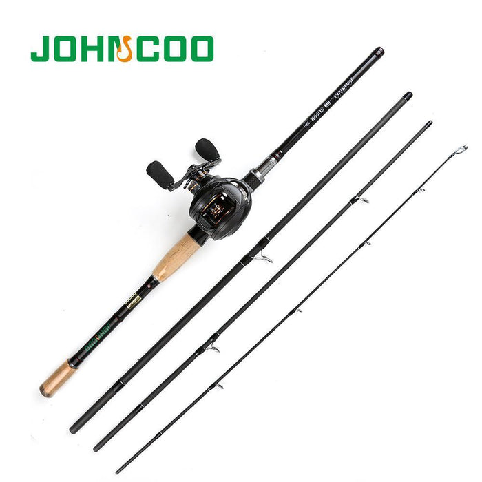 Johncoo Fishing Rod Reel Set 2.1M 2.4M 2.7M Carbon Rod Baitcasting Fishing Rod-Fishing Rod & Reel Combos-Bargain Bait Box-Yellow-2.1 m-Bargain Bait Box