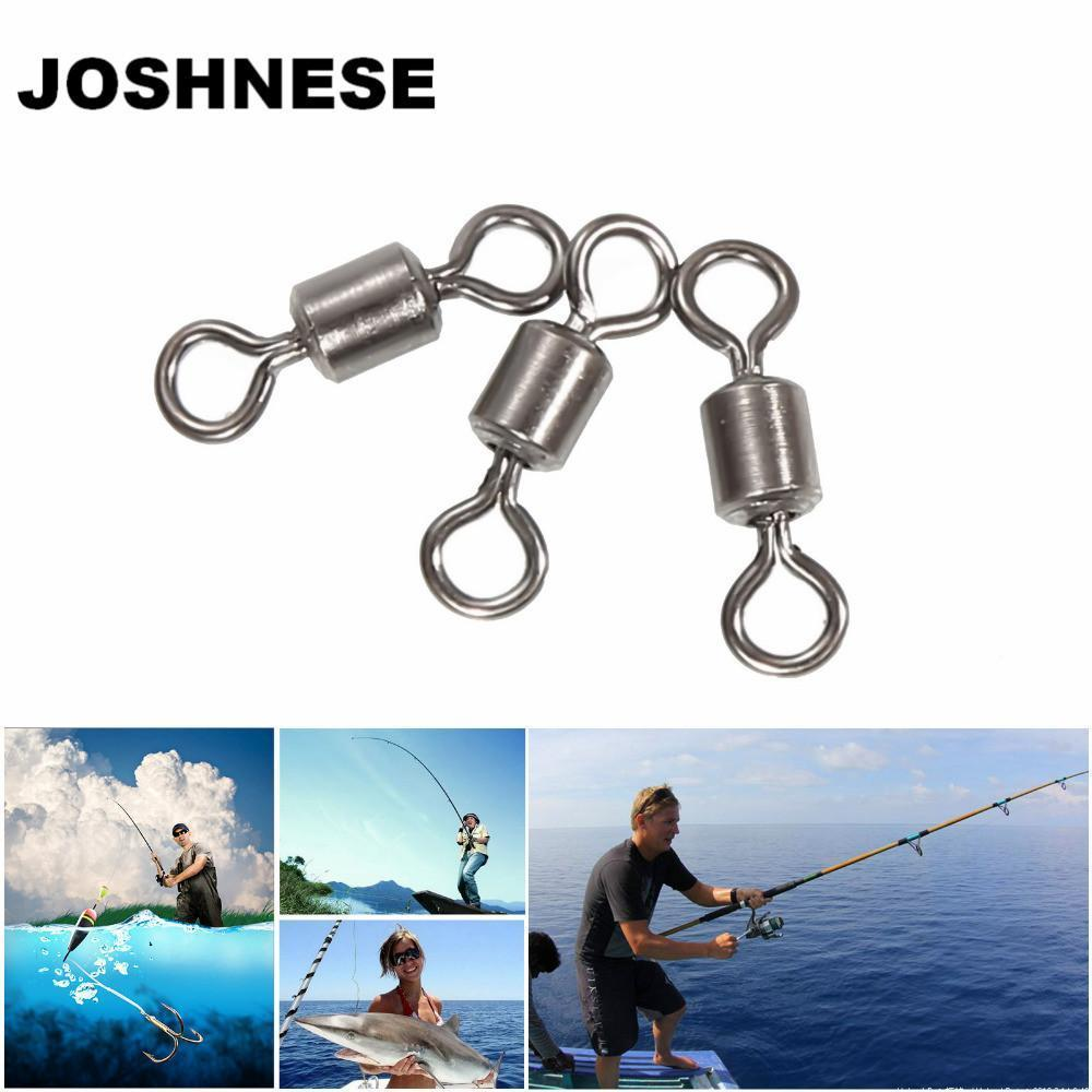 Joshnese 100Pcshigh Quality Fishing Swivels Ball Bearing Rolling Swivel Solid-Ziyaco Online Store-3-Bargain Bait Box