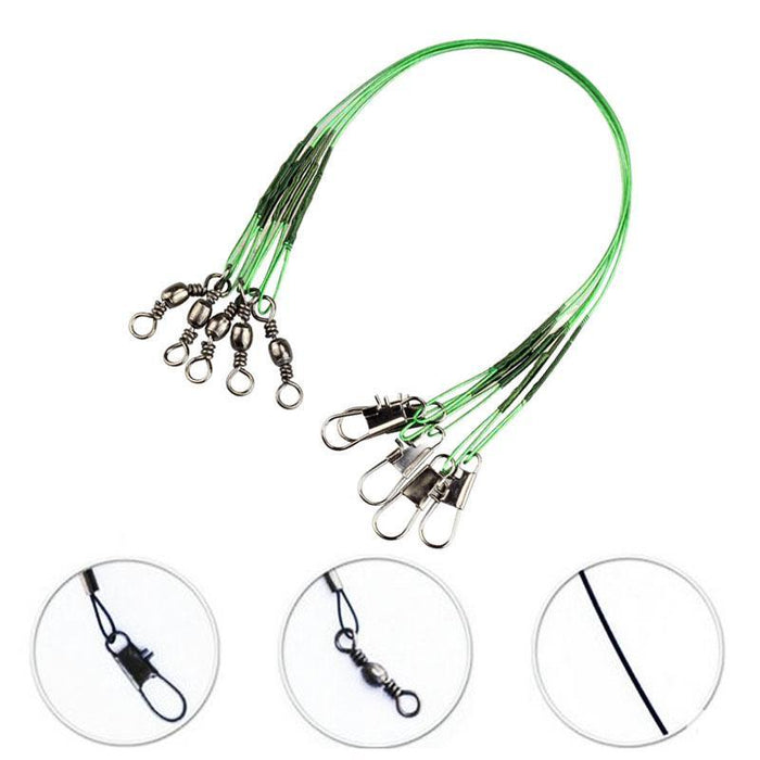 Jsfun 200 Pcs Fly Fishing Lead Line Sedal Anti-Bite Rope Wire Leader-JSFUN Official Store-15cm-Bargain Bait Box