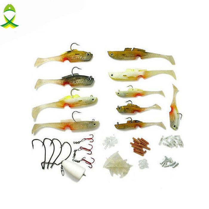 Jsm 100 Pcs/Set Silicone Minnow Soft Fishing For Fresh Water Salt Water With-Soft Bait Kits-Bargain Bait Box-Bargain Bait Box
