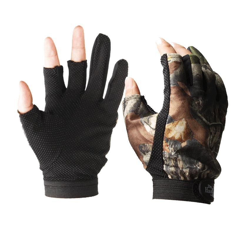 Kamberft Fingerless Hunting Fishing Gloves Camo Comfortable Anti Slip Elastic-Gloves-Bargain Bait Box-Multi-One Size-Bargain Bait Box