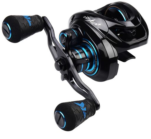 Kastking 2019 Crixus Super Light Baitcasting Fishing Reel Dual Brake-Baitcasting Reels-Affordable Fishing Store-Dark Star-Left Hand-Bargain Bait Box