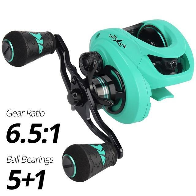Kastking 2019 Crixus Super Light Baitcasting Fishing Reel Dual Brake-Baitcasting Reels-Affordable Fishing Store-Sea Spray-Left Hand-Bargain Bait Box