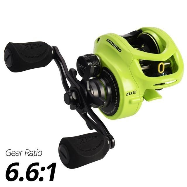 Kastking Bassinator Elite Baitcasting Fishing Reel 8Kg Drag 10+1 Bbs Carp-Fishing Reels-Affordable Fishing Store-Ninja-Left Hand-Bargain Bait Box