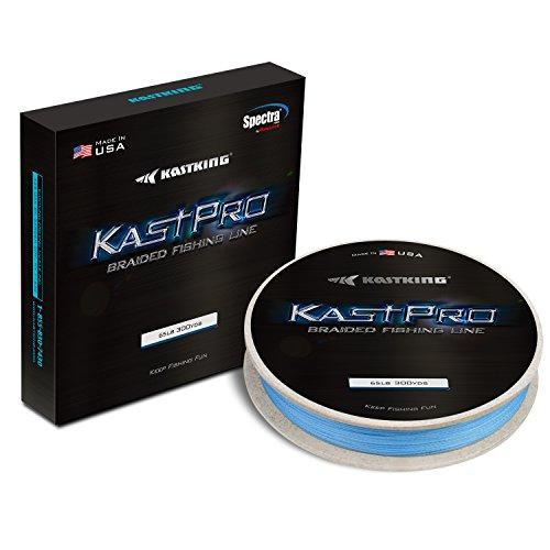 Kastking Kastpro Braided Fishing Line - Spectra Super Line-Braided Lines-Amazon-Black-300Yds - 10LB - 0.004in-Bargain Bait Box
