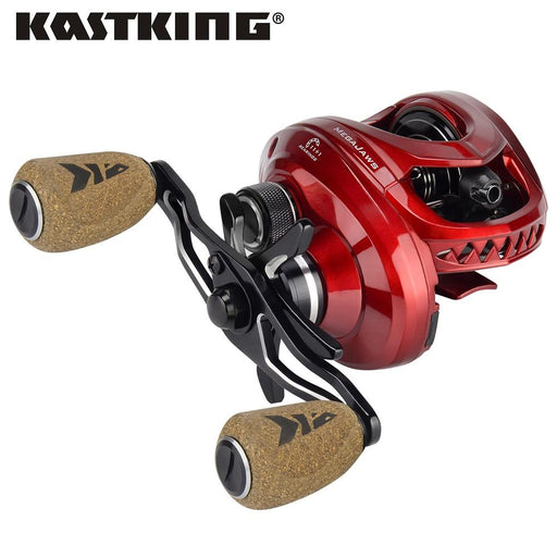 Kastking Megajaws Baitcasting Reel Max Drag 8Kg Bait Casting Fishing Reel With 4-Fishing Reels-kastking official store-Silver-12-Left Hand-Bargain Bait Box
