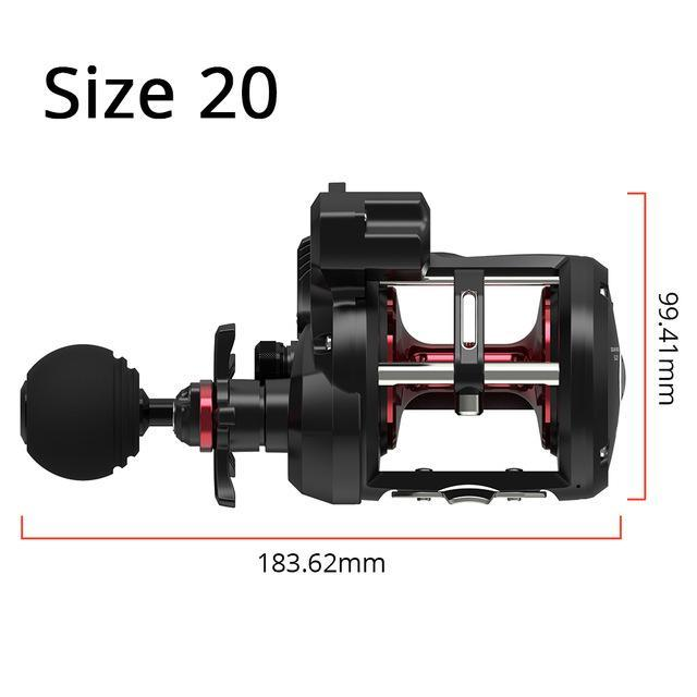 Kastking Rekon Line Counter Trolling Fishing Reel Round Baitcasting Reel 5.1:1-Home-Affordable Fishing Store-Size 20-Left Hand-Bargain Bait Box