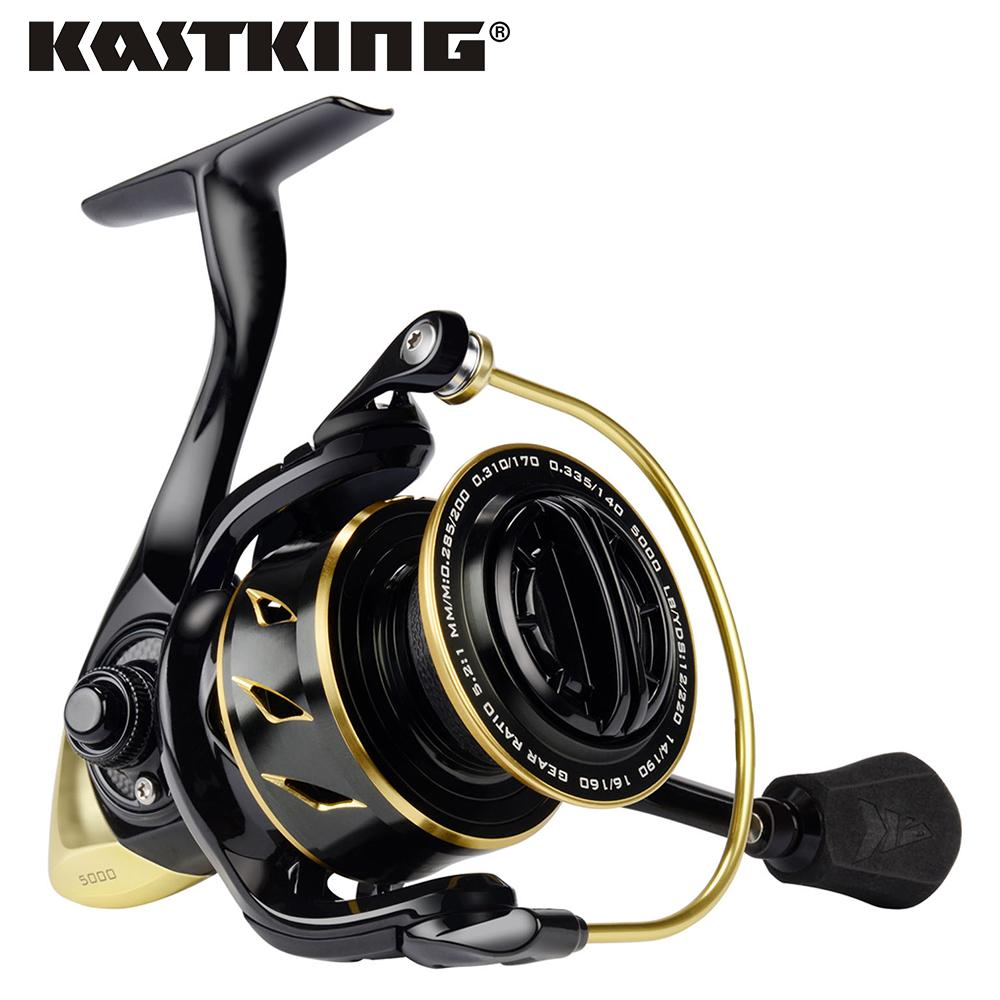 Kastking Sharky Iii Gold 5.2:1 Gear Ratio Full Metal Spinning Reel 18Kg Max Drag-Fishing Reels-kastking official store-11-1000 Series-Bargain Bait Box