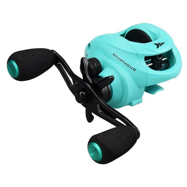 Kastking Spartacus Baitcasting Fishing Reel 8Kg Drag Power 12 Ball Bearings-Baitcasting Reels-Affordable Fishing Store-Blue-12-Right Hand-Bargain Bait Box