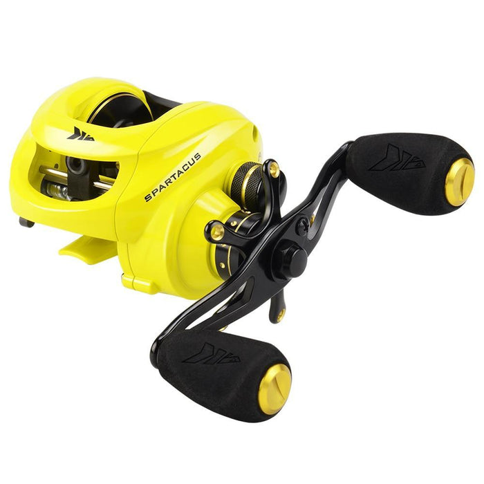 Kastking Spartacus Baitcasting Fishing Reel 8Kg Drag Power 12 Ball Bearings-Baitcasting Reels-Affordable Fishing Store-Gold-12-Left Hand-Bargain Bait Box