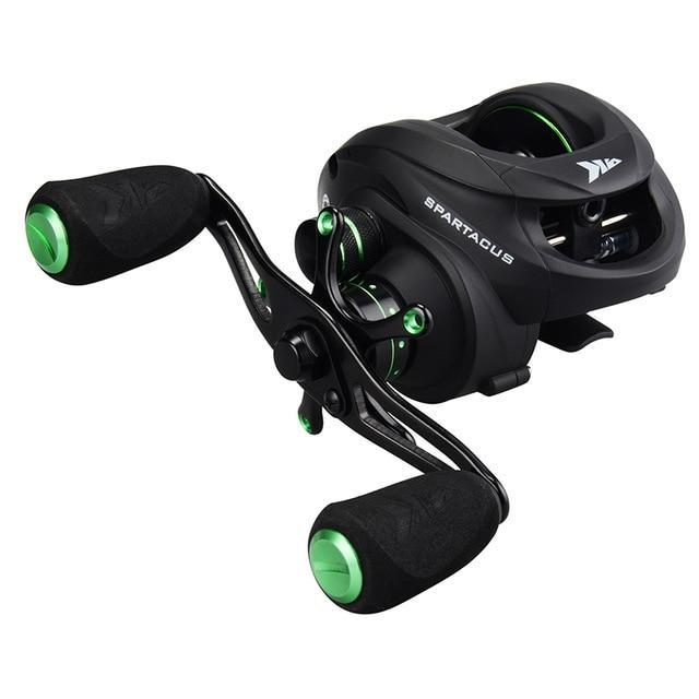Kastking Spartacus Baitcasting Fishing Reel 8Kg Drag Power 12 Ball Bearings-Baitcasting Reels-Affordable Fishing Store-Grey-12-Left Hand-Bargain Bait Box