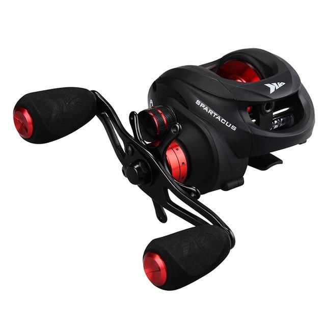 Kastking Spartacus Baitcasting Fishing Reel 8Kg Drag Power 12 Ball Bearings-Baitcasting Reels-Affordable Fishing Store-Red-12-Left Hand-Bargain Bait Box